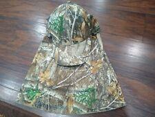 NWT Men's Camo REALTREE EDGE Facemask Baseball Hat Hunting Fishing .
