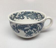 "Villeroy & Boch ""VALERIA BLUE"" Flat Coffee / Tea CUP - Toile Design - Germany"