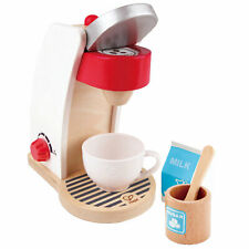 Hape My Coffee Machine Kids Wooden Pretend Kitchen Coffee Maker Play Set Toy