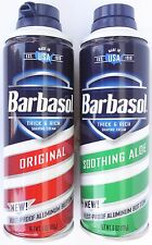BARBASOL SHAVING CREAM Aerosol Can Shave SELECT: Original or Soothing Aloe