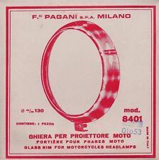 Ducati 250/350/450, MV Agusta 175, Morini, all CEV headlamp 130mm chrome ring