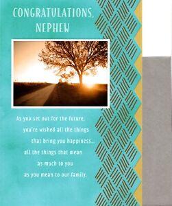 Congratulations Nephew Bright Future Graduation Greeting Card By Hallmark