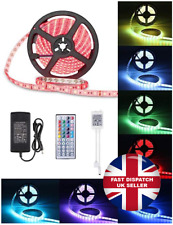 10M RGB 5050 LED Strip Lights IR Remote Back Light 12V Colour Changing Xmas Deco