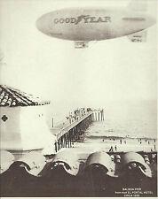 "NEWPORT BEACH Good Year Blimp Balboa Pier VINTAGE Photo Print 1465 11"" x 14"""