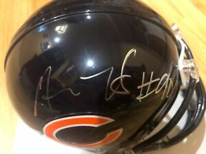 MITCHELL TRUBISKY & AKIEM HICKS Signed Auto Riddell Chicago Bears Mini Helmet