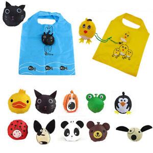 Travel Foldable Handbag Grocery Tote Storage Reusable Animal Shopping Bags