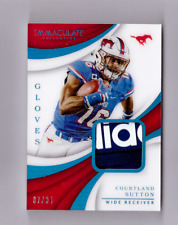 2018 Immaculate COURTLAND SUTTON Rookie Gloves SP 37/84 Prime Adidas Patch
