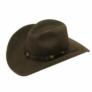 Twister Crushable Brown Felt Wool Cowboy Hat 7211002