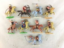 Lot 9 Vintage Timpo Swoppet Mounted Viking Warriors Toy Soldiers