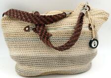 The Sak Crochet Large Hobo women's Beige Shoulder bag