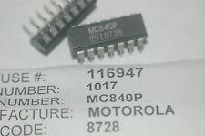MOTOROLA MC840P 14-Pin Plastic Dip Integrated Circuit New Lot Quantity-5