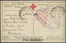 Camp 1917 Austria Leoben to Russia POW Kriegsgefangenenpost Prisoner Red Cross 6