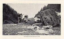 Antique print catastrophe Saint-Gervais-les-Bains France 1893 gravure