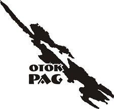 Aufkleber Insel Pag, Novalija, Zrce