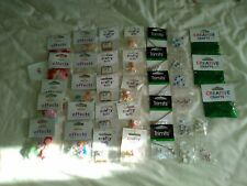 JOB LOT 36 PACKETS OF CRAFTING BITS AND BOBS