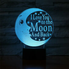 Moon 3D Lamp LED Night Light Touch Table Lamp Brithday Child Gifts 7 Color