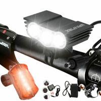 20000LM Bike Mountain LED Headlight Road Front Light T6 LED Bicycle Light Set