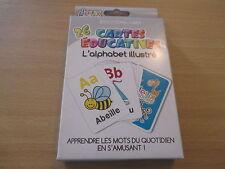 jeu 26 cartes educatives l'alphabet illustre