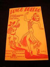 Partition Tango Boléro Jacques Chanzol Agel Music Sheet