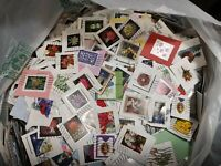 75 Christmas Forever USA Used on paper Stamps.  No flags!