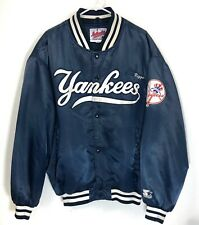 Vintage New York Yankees Starter Authentic Diamond Collection Satin Jacket XL *