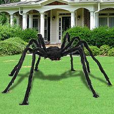 UK 2pcs 150cm Black Spide Halloween Decoration Haunted House Prop Indoor Outdoor
