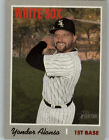 2019 Topps Heritage Short-Print Card SP #497 YONDER ALONSO White Sox