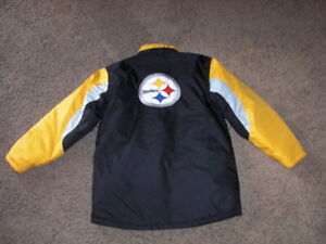 PITTSBURGH STEELERS full zip puffy winter Jacket youth XL NFL Team Apparel