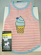 New listing Doggy Hotel - Pink & White Stripe Ice Cream - Tank (Pet, Dog) Small