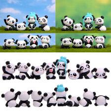 8pcs Miniature Cute Panda Fairy Garden Micro Landscape Panda Home Garden Decor