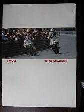 MOTO KAWASAKI   CATALOGUE COMPLET GAMME 1993  DEPLIANT PROSPECTUS BROCHURE