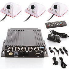 4CH Auto Car Vehicle Mobile DVR SD With 4 CCD Camera Cable Safety Vision Set Kit