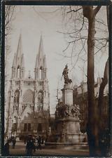 France, Église à identifier, ca.1900, Vintage citrate print Vintage citrate prin