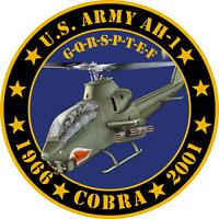 US Army AH-1 Cobra Tribute Commemorative Sticker 4''