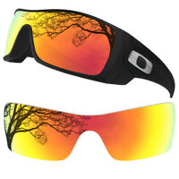 Dynamix Polarized Fire Red Replacement Lenses for Oakley Batwolf Sunglasses