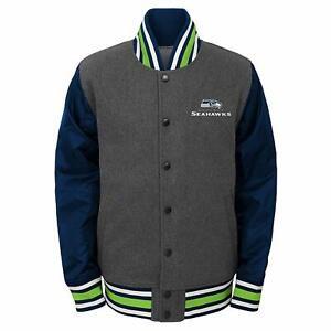 Outerstuff NFL Football Boys Seattle Seahawks Letterman Varsity Jacket