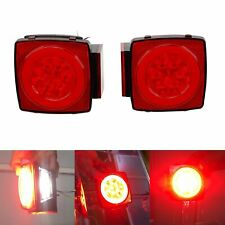 Newest Led Submersible Square Trailer Tail Lights Brake Marker Truck Waterproof