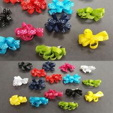 "16 pieces Baby Girl Kid Hair Clip Bow Dots Hairpin Alligator Ribbon Grosgrain 2"""