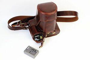 Leather Camera Bag Cover Case For Olympus OM-D E-M5 mark II EM5II Bottom Opening