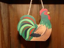 Rooster ~ Cute peg hanger sign ornament country farm home decor