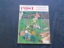 1956 JUNE 16 THE SATURDAY EVENING POST MAGAZINE - SWINGSET COVER - SP 2101