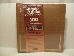 NEW Pioneer Deluxe Alligator Cover 100 Large Pages Photo Album Up To 8x10 BROWN
