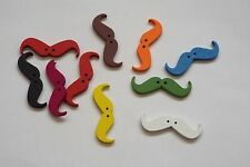6pc 35mm Mixed Wooden Mustache Toggle Cardigan Knitwear Kid Baby Button 1014