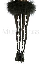 Back Bone Skeleton White Black Style Pantyhose Gothic Stockings Punk Goth Style
