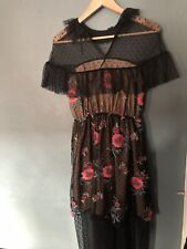 Elliatt Vita Dress BNWT Size S Prom Frilly Net Lace Floral Black Red £289 ASOS
