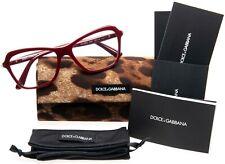 NEW D&G Dolce & Gabbana DG 3263 3091 BORDEAUX EYEGLASSES FRAME 52-16-140mm Italy