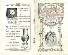 "BROCHURE GRAND MAGASIN "" A LA GERBE D' OR "" STORE CADEAUX DE COMMUNION 1917"