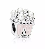 Authentic Pandora Charm 797213 Silver 925 ALE Pale Pink Delicious Popcorn Bead