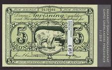 Greenland 2019 MNH - Old Banknotes  III - Ice Bear - m/sheet