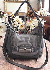 COACH 18287 KRISTIN Gray Python Croc Leather Crossbody Tote Handbag